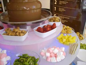 fuente de chocolate para boda