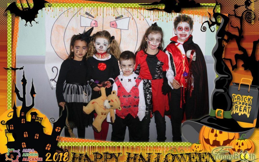 Fiesta de Halloween 2018 en Colegio Azorín con AMPA Azorín Alicante.