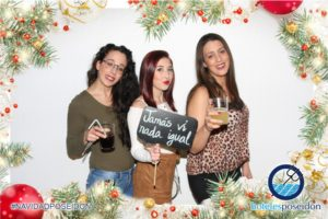 Fotomaton en fiesta de navidad