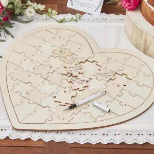 puzzle madera firma boda