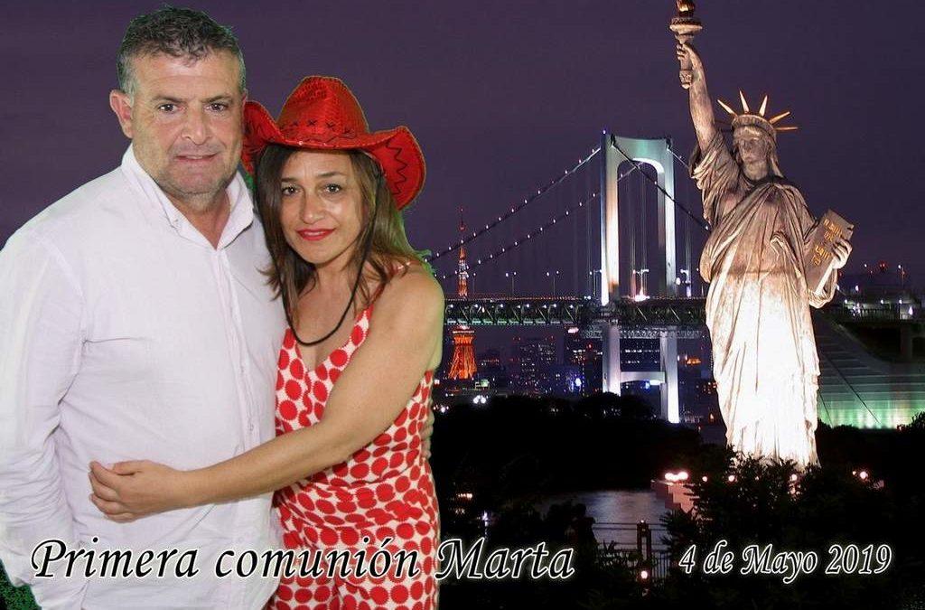Photocall Croma Murcia Comunión Marta